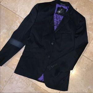Black Sport Coat with Silk Interior